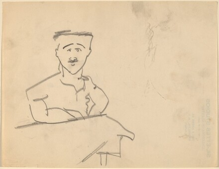Man with Moustache, Seated at Table