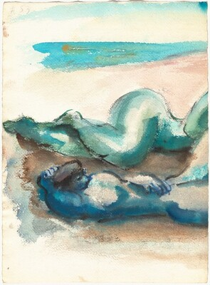 Two Reclining Figures Near the Waterfront [recto]