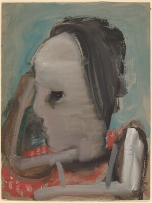 Head of a Figure Facing Left [recto]