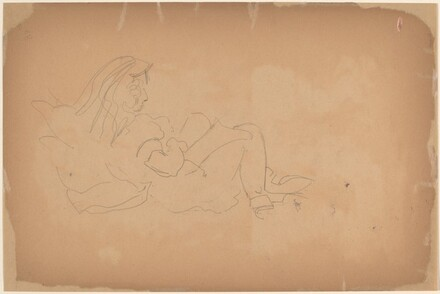 Reclining Figure Reading [verso]