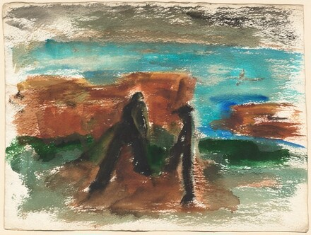 Two Figures Near the Waterfront [recto]