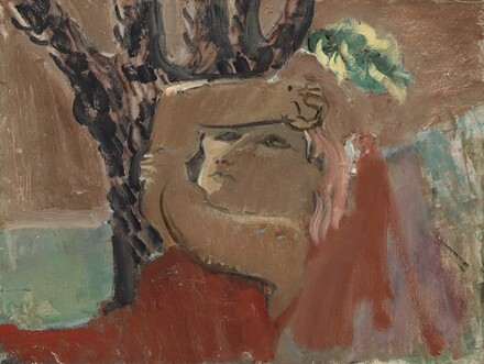 Untitled (woman under tree) [reverse]