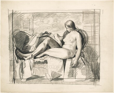 Study for Nude with Hexagonal Quilt