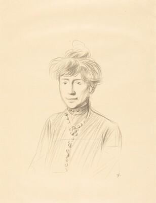 Study of a Woman, Half-Length Facing Front