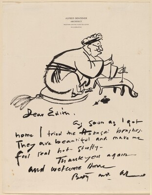 The Artist  (drawn on a letter to Mrs. Lessing J. Rosenwald)