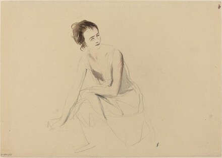 Study of a Seated Girl