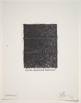 Untitled (Bookplate for David Grainger Whitney)