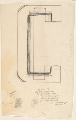 Sketch for Building - Blocks for a Doorway (C)