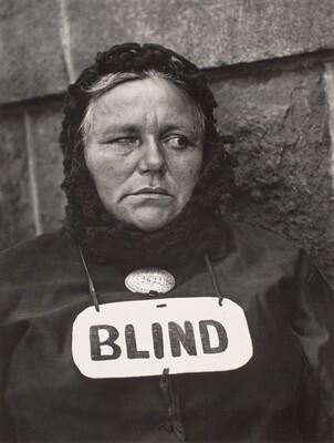 Blind Woman, New York