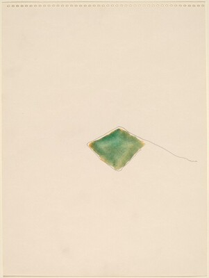 Green Diamond with Pencil Line