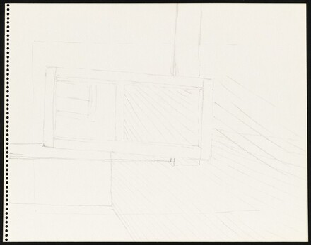 Untitled (Studio Corner) [verso]