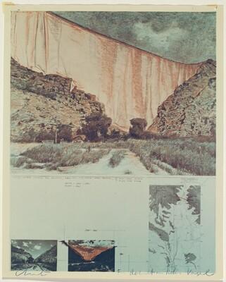 Valley Curtain, Grand Hogback, Rifle, Colorado, 1970-1972