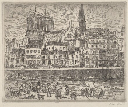 Notre Dame, Seen from the Quai Celestins, Paris