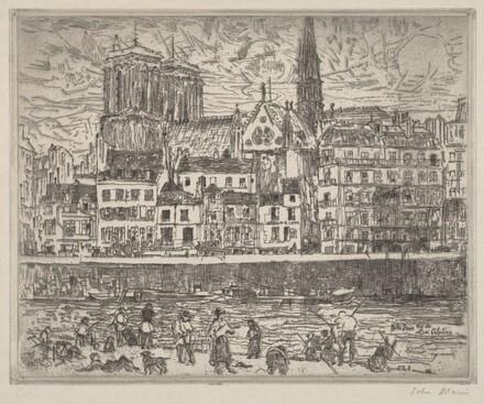 Notre Dame, Seen from the Quai Celestins, Paris