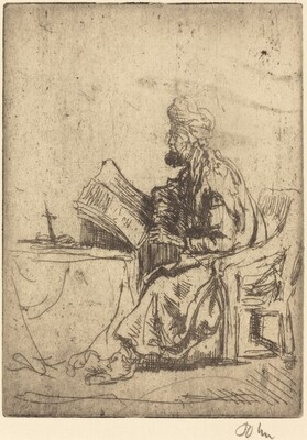 A Rabbi Studying