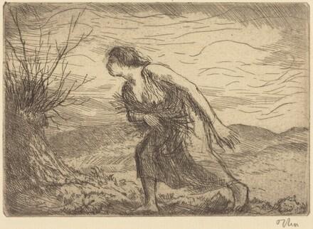 Woman Gathering Sticks