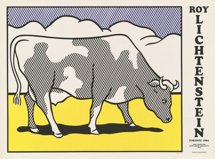 Cow Triptych (Cow Going Abstract) Poster (left panel)