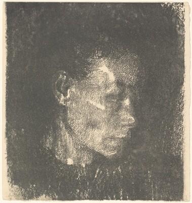 Head of a Working Class Woman in Three Quarter Profile to the Right (Kopf einer Arbeiterfrau im dreivertelprofil nach Rechts)