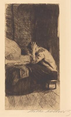 Woman at the Cradle (Frau an der Wiege)