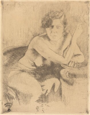 Seated Nude with a Cigarette