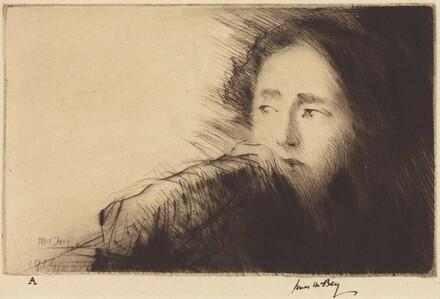 Disquietude (Portrait of Mrs. Martin Hardie)