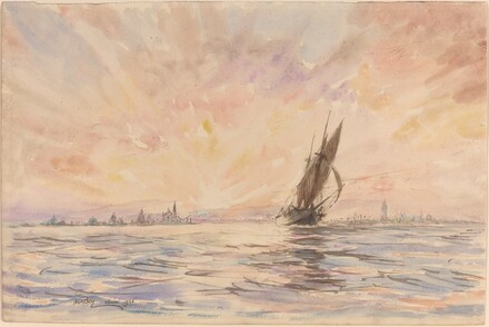 A Tartane Leaving Venice