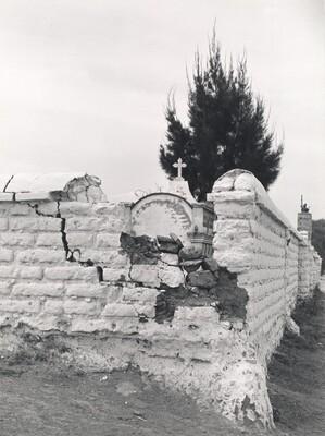 Cemetery Wall, Texcoco, Mexico
