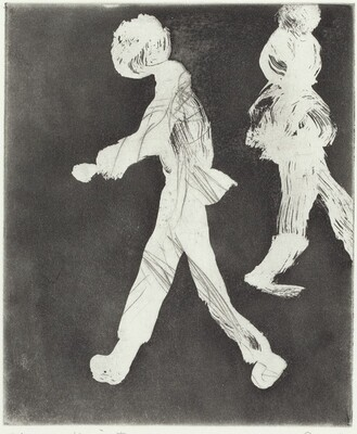 Two Walking Figures
