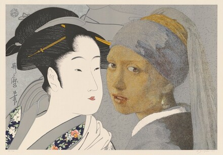 Still Life with Utamaro and Vermeer