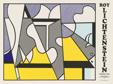Cow Triptych (Cow Going Abstract) Poster (center panel)