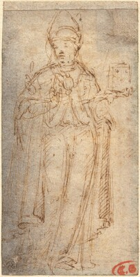 Saint Louis of Toulouse Holding a Book