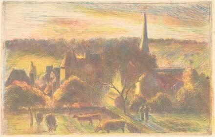 Eglise et ferme d'Éragny (A Church and Farm at Éragny)