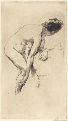 Nude Holding Her Leg (Femme nue se tenant la jambe)