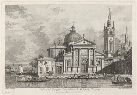 Veduta del Prospetto della Chiesa di S. Giorgio Maggiore