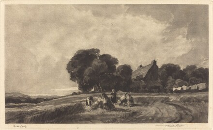 Cottage with Harvesters