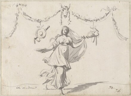 Ornament with a Woman in Ancient Dress