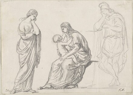 Mother and Child Flanked by Two Standing Figures