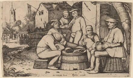 Peasants Lunching in Open Air