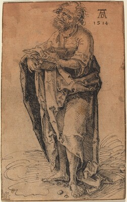 A Standing Apostle Holding a Book