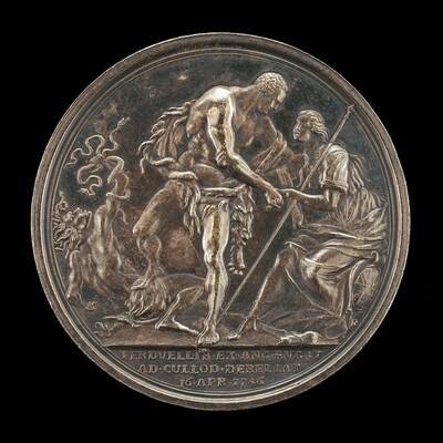 The Duke as Hercules, Overcoming Discord and Raising Britannia [reverse]