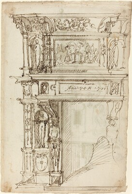 Palatial Mantelpiece with a Scene of Ancient Sacrifice [recto]