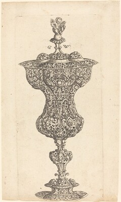 Goblet with Putto on lid