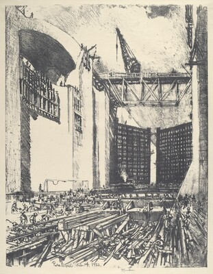 Laying the Floor of Pedro Muguel Lock