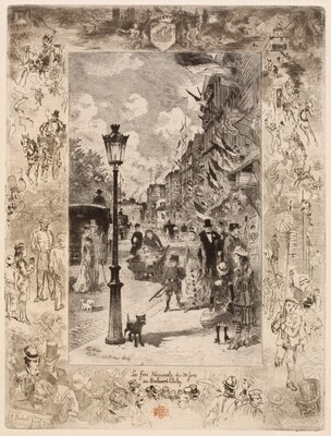 National Holiday on the Boulevard de Clichy