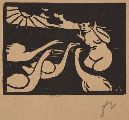 Bather with Swans (La baigneuse aux cygnes)