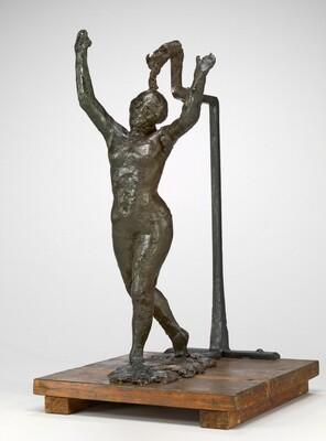 Dancer Moving Forward, Arms Raised