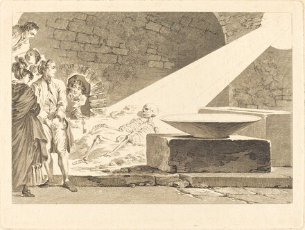 Fragonard and Bergeret with Their Wives Visiting a Tomb in Pompeii