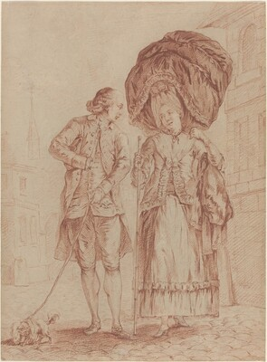 A Cleric Accompanying a Lady on Her Morning Walk