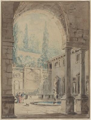 Courtyard of the Villa Pliniana