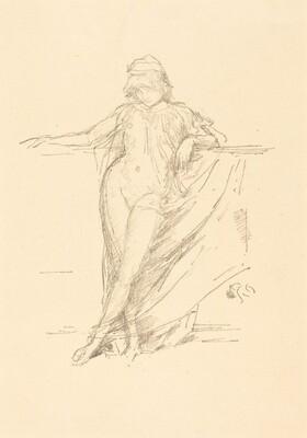 Little Draped Figure Leaning